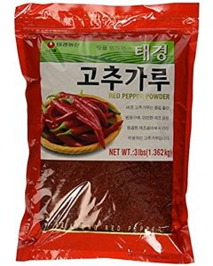 Taekyung Korean Red Pepper Coarse Powder, 3.0 pounds