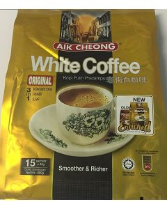 Aik Cheong Instant 3 in 1 Original White Coffee 600G (40g. x 15 Sachets)