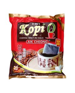 Aik Cheong Malaysian 2 in 1 Kopi-O Sugar Added 20g x 20 sachets 400G