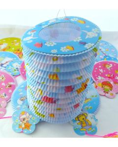Assorted Colours Cartoon Design 16 diameter Chinese Paper Lantern Tang Long (12 pieces)