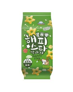 Yuki & Love Happy Star Rice Snack Seaweed Flavour 70g