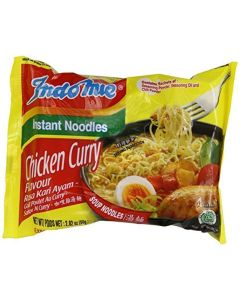 Indo Mie Mi Goreng Instant Noodle, Chicken Curry, 2.82 Ounce (Pack of 30) by Indomie
