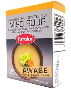 Yutaka Japanese Mellow Yellow Awase Flavour Miso Soup (3 x 50g) Pack of 6