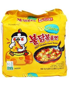 Samyang(5 Pack) Cheese Spicy Hot Chicken Flavored Ramen Noodles Cheese Buldak x 5 pk