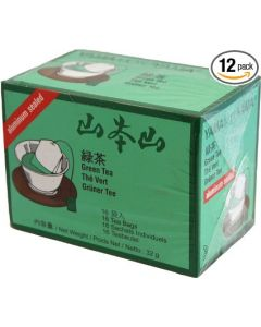 Case of 12 packs YamaMotoYama Japanese Sencha Green Tea 2g x 16 bags (32g)
