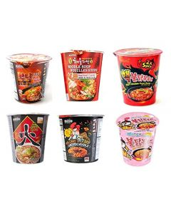 6 Cup Paldo Samyang Korean Spicy Noodles Various Flavours (6 Packs)