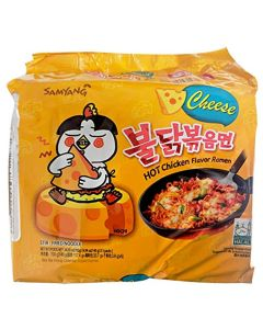 Samyang Hot Chicken Buldak Ramen Noodle Cheese Flavor (Pack of 5)