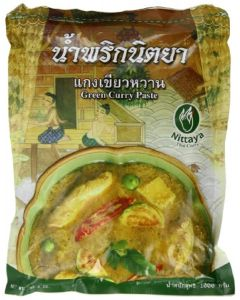 Nittaya Thai Green Curry Paste 1 Kg (Pack of 2)