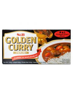 Pack of 2 S&B Golden Japanese Curry Hot - 220G