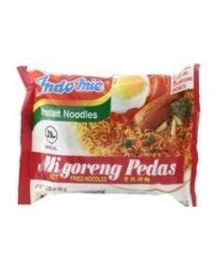 MI GORENG HOT & SPICY instant noodles - 6 x 80 gr (6 x 2.82 oz) - Product of Indonesia by Indomie