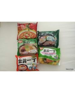 5 Types of Nissin Instant Noodle Flavour 100g (5 Packages)