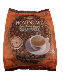 Home's Cafe Premix White Coffee (3 in 1) Malaysia Ipoh White Coffee Hazelnet Flavour 15 stick packs (600g)