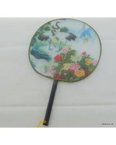Traditional Chinese Culture Painting Hand Fan - Peony and a pair of Crane