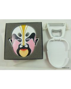 Pink Chinese Opera Mask Multi Function Peeler Bottle Opener Fridge Magnet