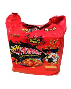 Korean Noodle Samyang 2xSpicy Stir Noodles Hot Chicken Ramen (Pack of 5)
