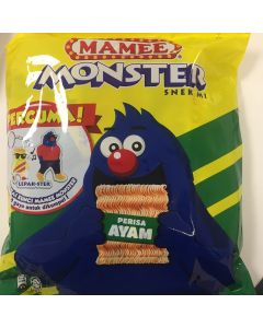 Mamee Monster Noodle Snack - Chicken Favour (25G x 8 packs)