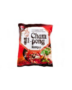Nong Shim Cham Pong Noodle Soup 125g (Pack of 5 packs)