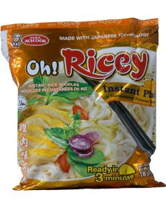 Oh! Ricey Vietnamese Rice Noodles Instant Pho Chicken Flavour 70g (Pack of 10 packs)