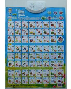 Chinese Audio Touch Button Poster - pinyin