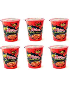 Samyang Extremely 2xSpicy Chicken Flavour Ramen Cup 70g (Pack of 6)