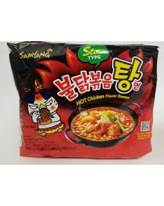Korean Samyang Hot Chicken Flavor Ramen Stew Type (Soup) 145g (Pack of 5)