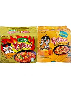 Samyang Hot Chicken Ramen Noodles Combo (5 Cheese & 5 Curry)