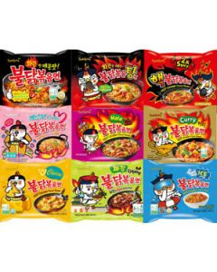 Samyang Korean Assorted Top Spicy Ramen Challenge Spicy Noodle (Pack of 10)