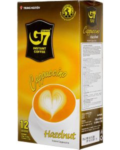 Trung Nguyen G7 Cappuccino Hazelnut Instant Coffee Sachets 12 Serves, Pack of 2