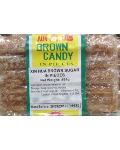 Xin Hua Brown Candy (Sugar) in pieces 454g (Pack of 2 Packs)